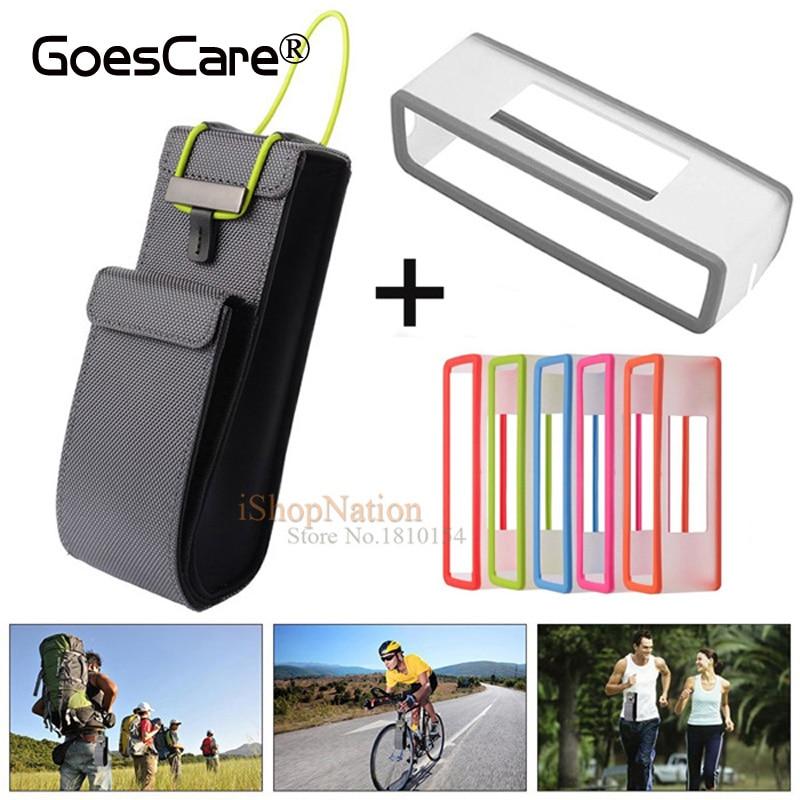 bilder für 2 in 1 Nylon Reise Carry Bag Tasche + TPU weiche Silikon-kasten-abdeckung Für Bose SoundLink Mini/Mini 2 Bluetooth lautsprecher