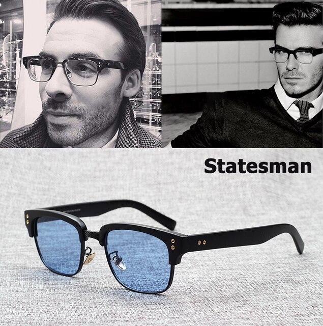 JackJad 2019 Nouvelle Mode L homme D état Beckham lunettes de Soleil  Lunettes Cadre 60b161036d09