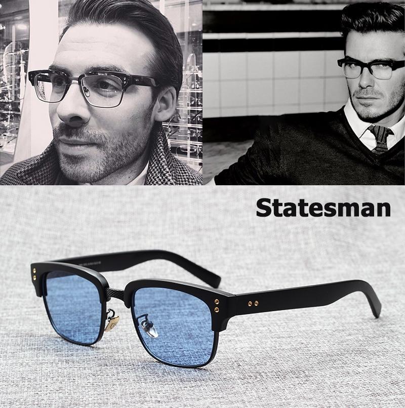 JackJad 2019 nueva moda el estadista Beckham gafas De Sol marco Vintage Marca Diseño miopía óptica Oculos De Grau Sol