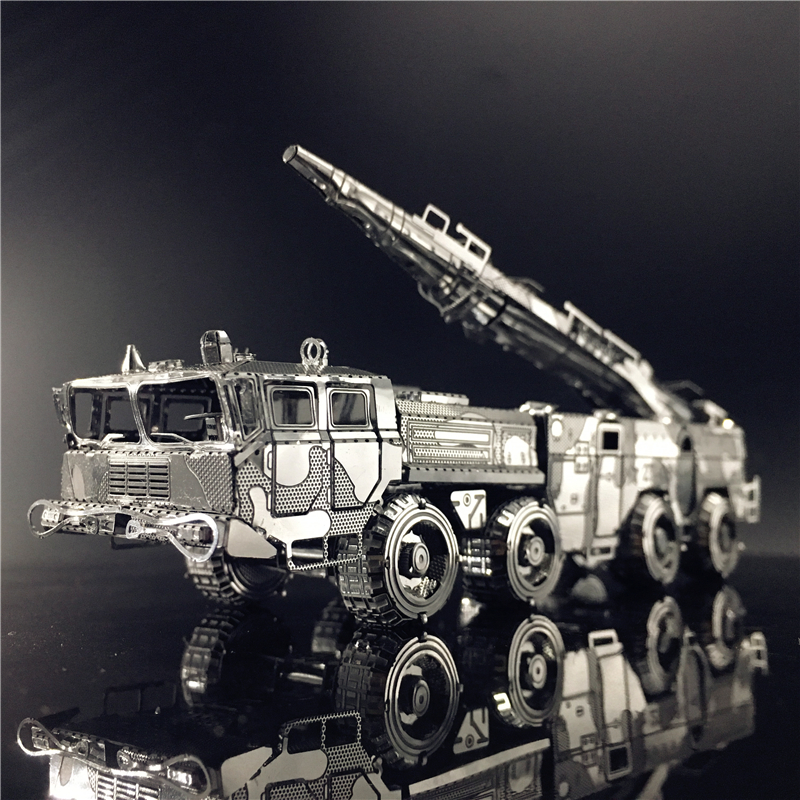MMZ MODEL NANYUAN 3D Metal Model Kit Assembly Model DF-11 MISSILE CARRIER 2 Sheets Puzzle  DIY TOYS Gift Chinese Military