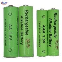 2/4 pièces pile alcaline Rechargeable AA AAA 1.5V avec 2/4 fentes chargeur de batterie USB intelligent affichage de LED chargeur intelligent