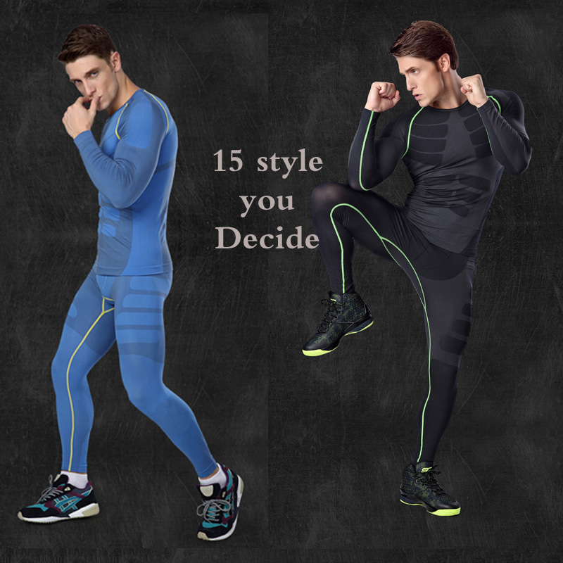 Men Compression Under Base Layer Cycling Quick Dry Short T shirt Bodybuilding Fitness Tight Tops Skin Tight Bicycle Clothing