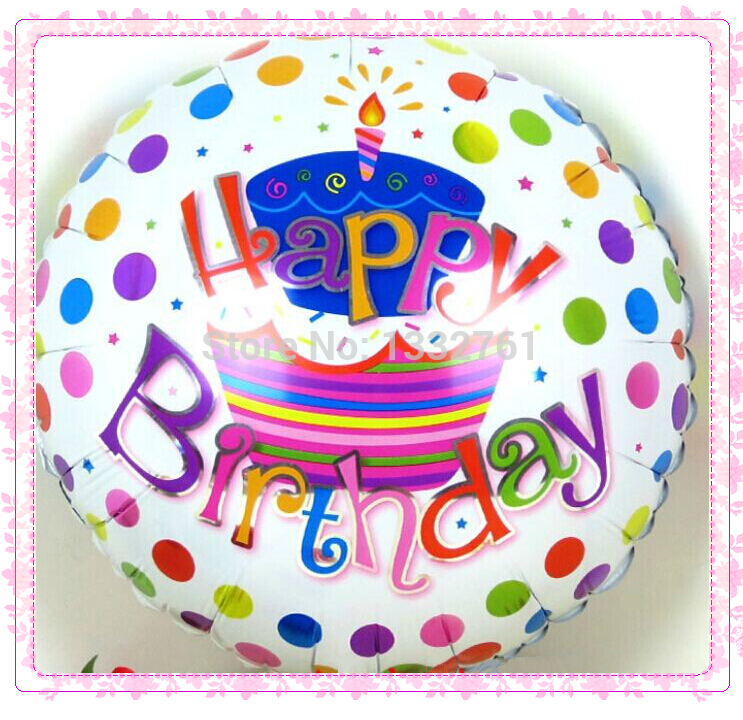 Freies verschiffen 50 teile//los Beste Qualität ballpon 18 inch Kinder GLÜCKLICH GEBURTSTAG THEMA folie ballons partei dekoration balao 1st birthday