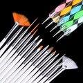 Cepillos de Uñas de Arte 20 unids/set FANALA Puntea Dibujo Pintura Pluma Del Cepillo Del Clavo Del Diseño Del Arte Cepillos Gel Polaco Conjunto de Herramientas