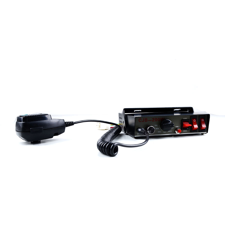 ФОТО 12V Car Styling CJB 200W Police Siren Automotive Alarm Siren Host only without Speaker Car Siren 9 tones Megaphone