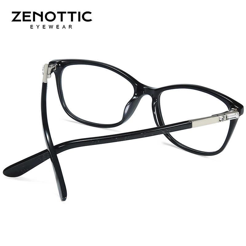 5847270fd091 ... ZENOTTIC Acetate Glasses Frame Women Fashion Frame Glasses Optical  Prescription Lenses Computer Glasses Frames Eyewear BT3007
