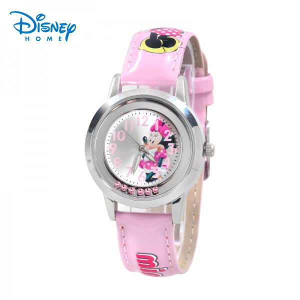 100% Genuine Disney Watch kids Minnie Mickey Wristwatches with diamond montre enfant Watch for children 92601