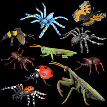 2019 NEW Plastic Insect Animal Model Solid Simulation Action Anime Figures Toys for Children Gifts Boys & Girls . insect model figures figurines toys plastic simulation spider cockroach cat monkey horse zoo animal doll gift