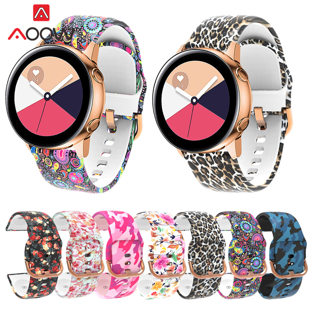 20mm Sport Silicone Watchband For Samsung Galaxy Watch 42mm Galaxy Active Replacement Bracelet Band Strap For Gear S2 Classic