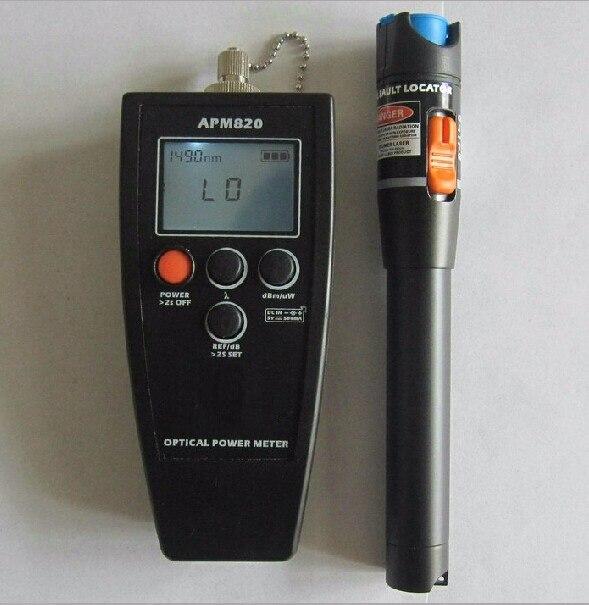APM820-70 ~ + 10dBm De Poche Puissance Optique Mètre et Testeur De Fiber Visual Fault Locator 10 mw
