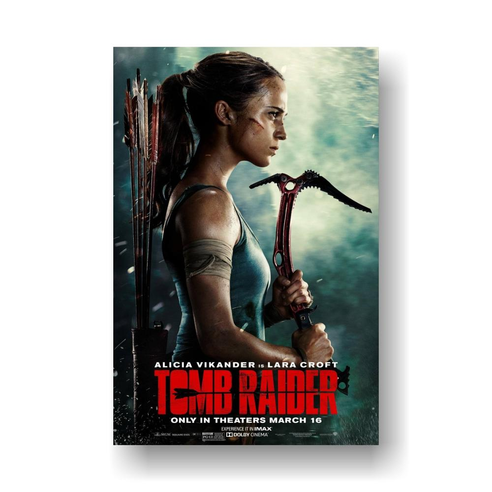 Tomb Raider 2018 Alicia Vikander Movie Poster Glossy Finish Fil759 24 X 36 60 X 90 Cm Painting Calligraphy