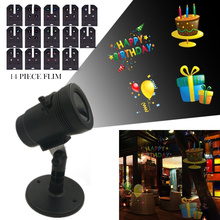 Smart Led Projector Laser Light 14  Replaceable Lens Patterns Waterproof Outdoor Christmas Party dj Lights Romantic Lawn Lamps