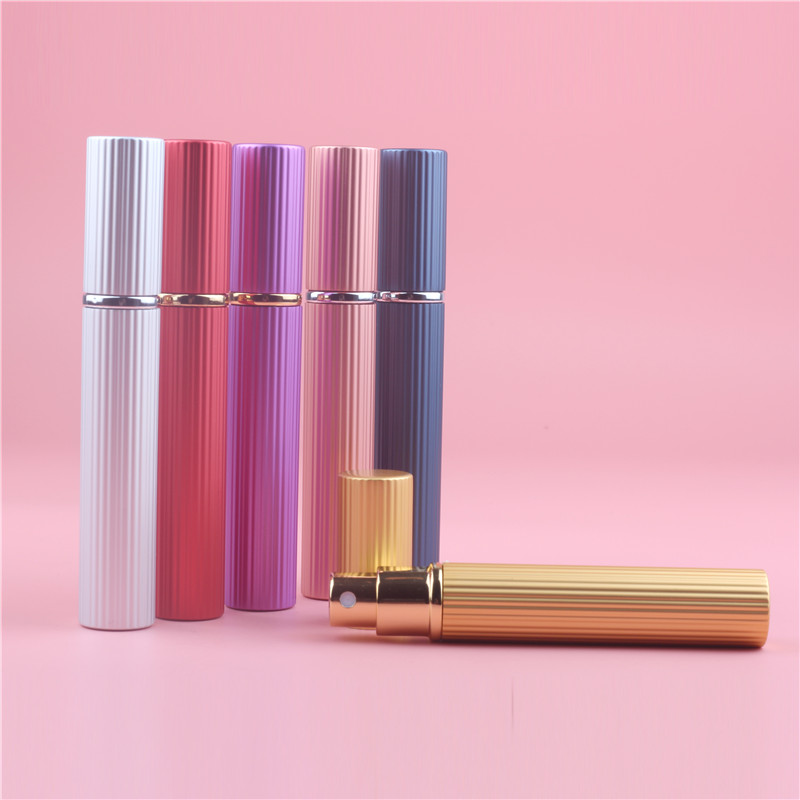 New Arrival 8ML Portable Mini Travel Perfume Bottle Vaporizador 6 Colors Parfum Bottles For Spray Scent Pump Case