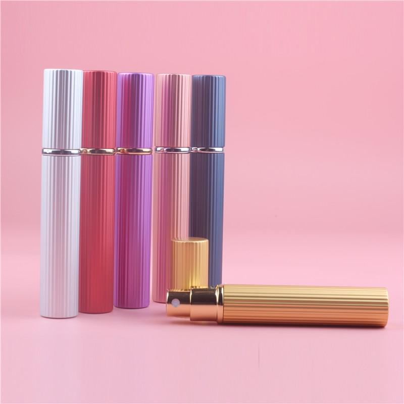 New Arrival 8ML Portable Mini Travel Perfume Bottle Vaporizador 6 Colors Parfum Bottles For Spray Scent Pump Case