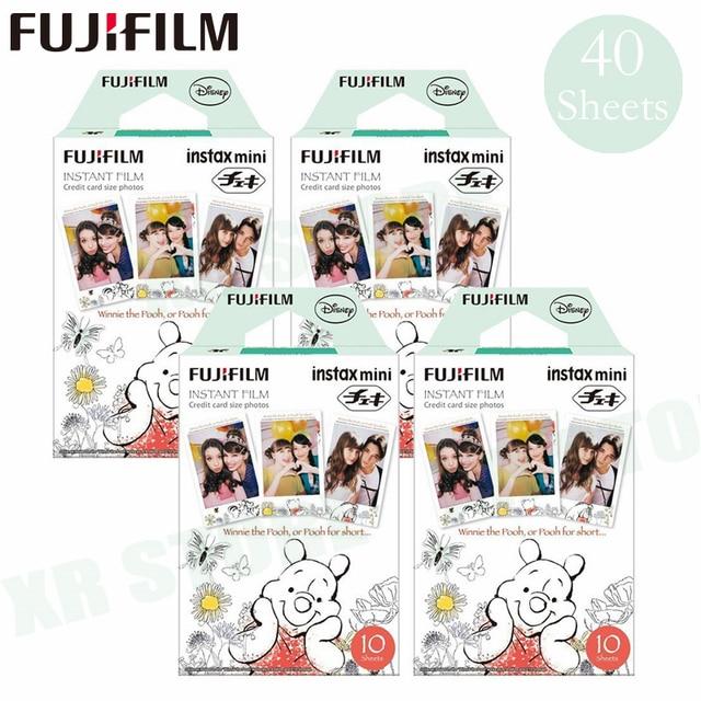 Fujifilm Instax Mini 8 9 Film Winnie pooh Fuji Instant Photo Paper 40 Sheets For 70 7s 50s 50i 90 25 Share SP 1 2 Camera
