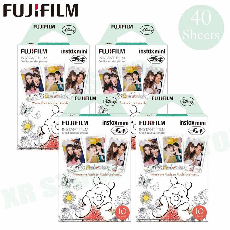 Fujifilm Instax Mini 8 9 Film Winnie pooh Fuji papier Photo instantané 40 feuilles pour 70 7 s 50 s 50i 90 25 partager SP-1 2 appareil Photo