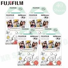 Fujifilm instax mini 8 9 filme winnie pooh fuji papel fotográfico instantâneo 40 folhas para 70 7s 50s 50i 90 25 share SP 1 2 câmera