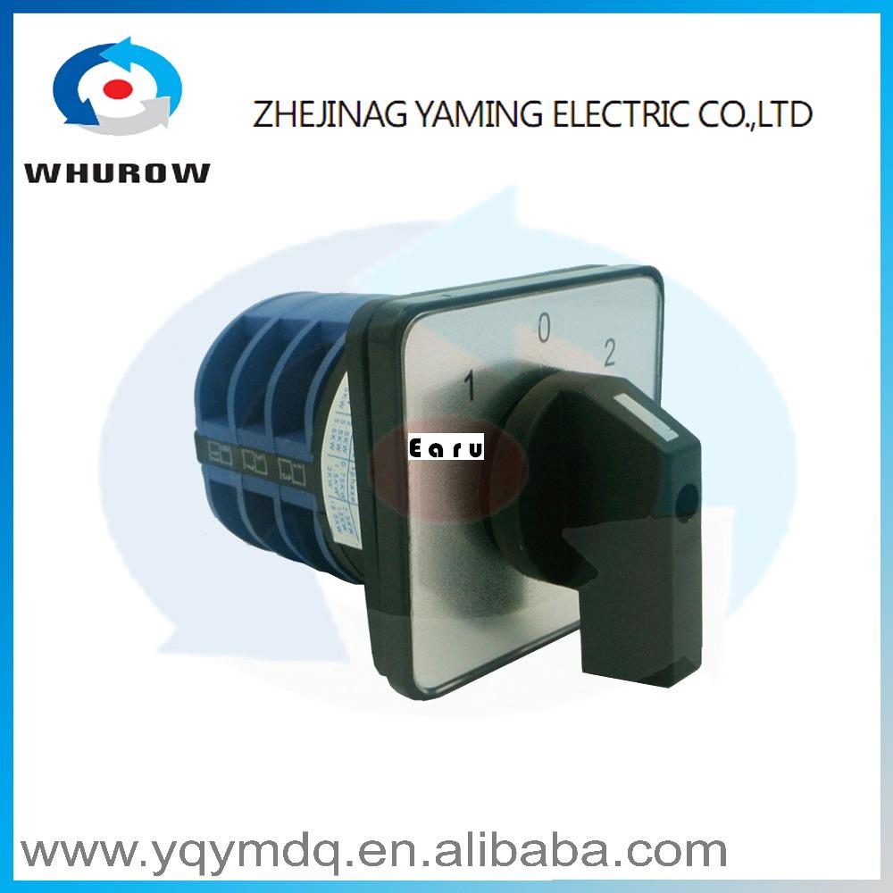 LW26-32 5.5N/3 High quality dc voltage manual electrical changeover rotary cam switch three poles(phase) sliver point contacts 660v ui 10a ith 8 terminals rotary cam universal changeover combination switch
