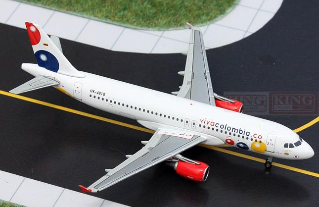 GJVVC1312 VIVACOLOMBIA A320 GeminiJets HK-4818 1:400 commercial jetliners plane model hobby