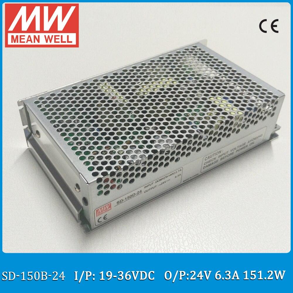 цена на Original MEAN WELL SD-150B-24 Single Output 150W 6.3A 24VDC Input 19~36VDC meanwell dc/dc converter