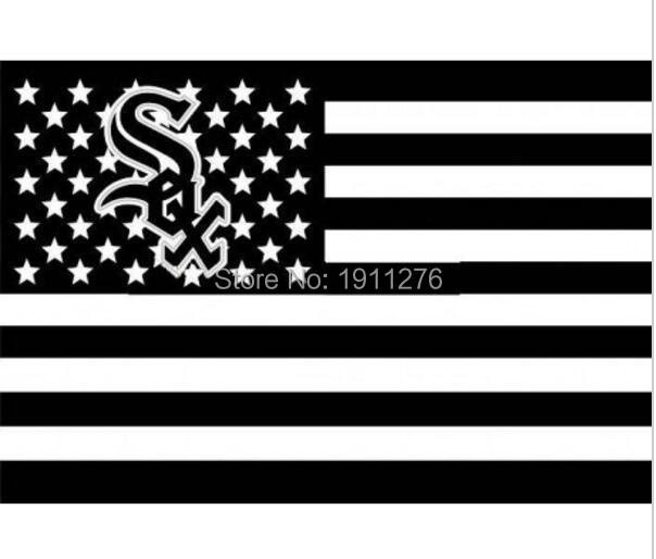 Chicago White Sox USA star stripe MLB Premium TeamBaseball Flag 3X5FT CWS01 home decoration Flying 144* 96cm Custom flag