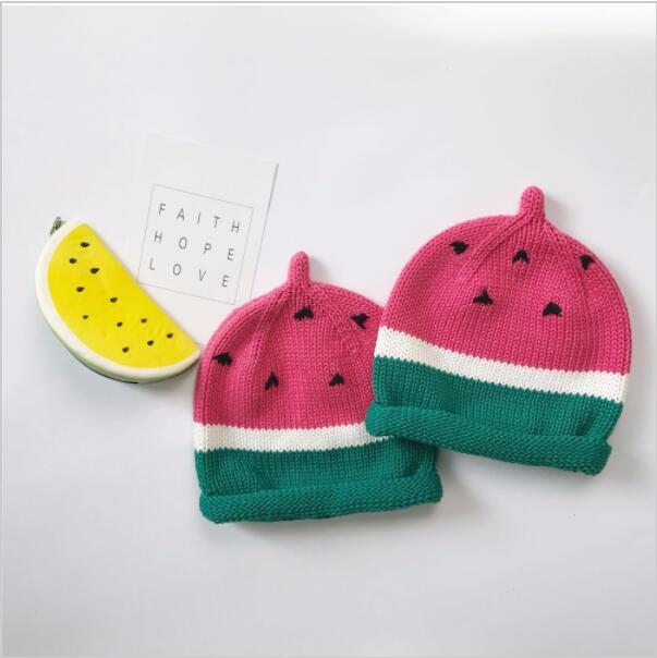 b6811030eae 2017 Autumn Winter Baby Hat Children Clothing Baby Girl Soft wool Hat Kids Watermelon  Hat Cap Christmas Gift
