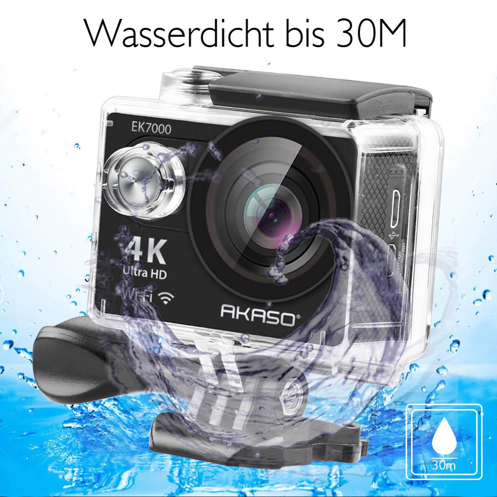 Hot DealsAKASO EK7000 WiFi 4K Action Camera Ultra HD Waterproof DV Camcorder 12MP Cameras Sports Camera 170 Degree Wide Angle Original