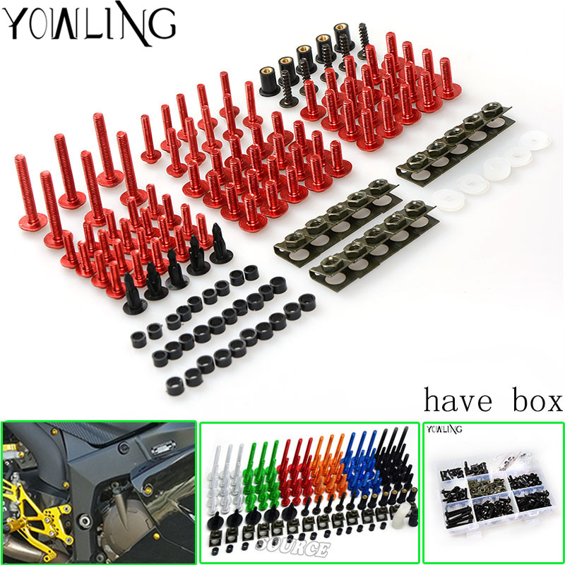 Motorcycle Scooters Fairing Body Work Bolts Nuts Spire Speed Fastener Clips Screw for ducati Monster 695 Monster 1100 2007 2008