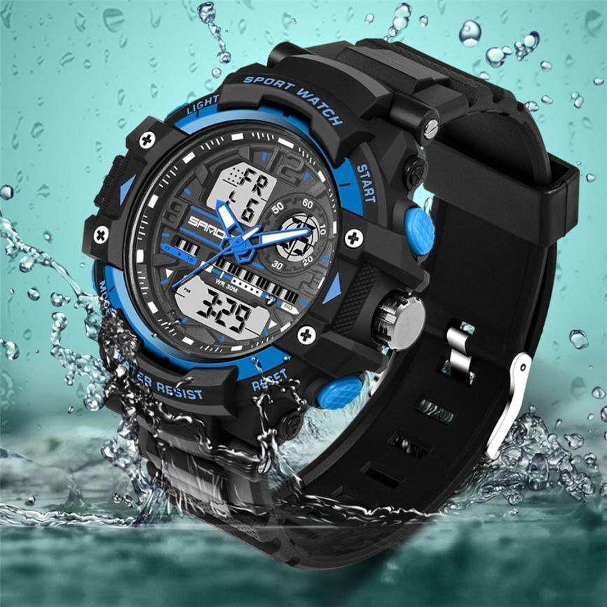 Imported From Abroad #5002waterproof Children Boy Digital Led Quartz Alarm Date Sports Wrist Watch Dropshipping New Arrival Freeshipping Hot Sales Watches
