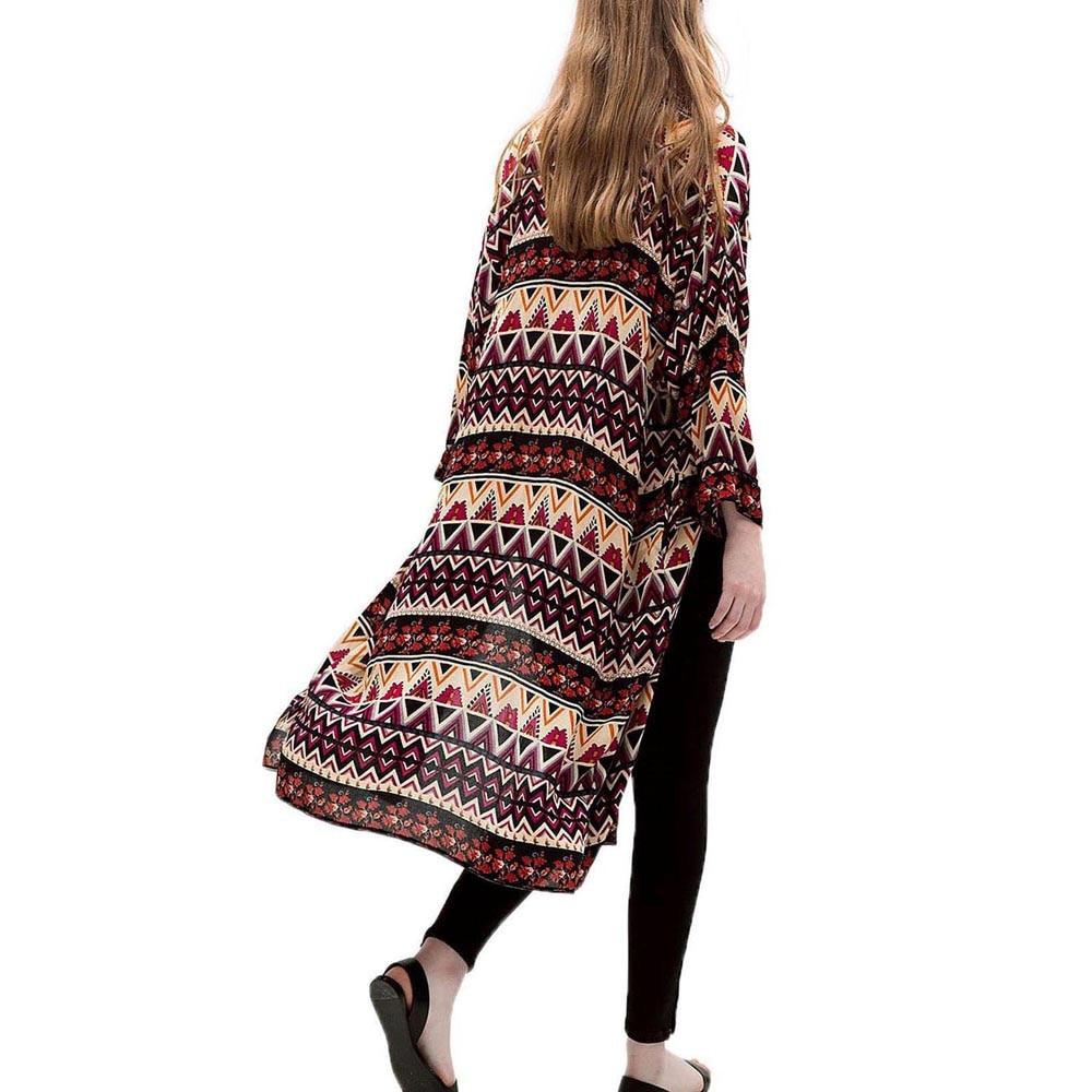 Aliexpress.com : Buy Women Geometric Print Kimono Cardigan Women ...