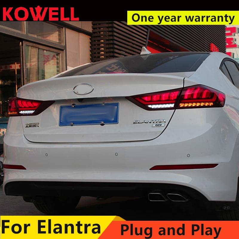 Kowell Car Styling For Hyundai Elantra 2017 Tail Lights Led Light Rear Lamp Drl Brake Reversing Dynamic Turn Signal