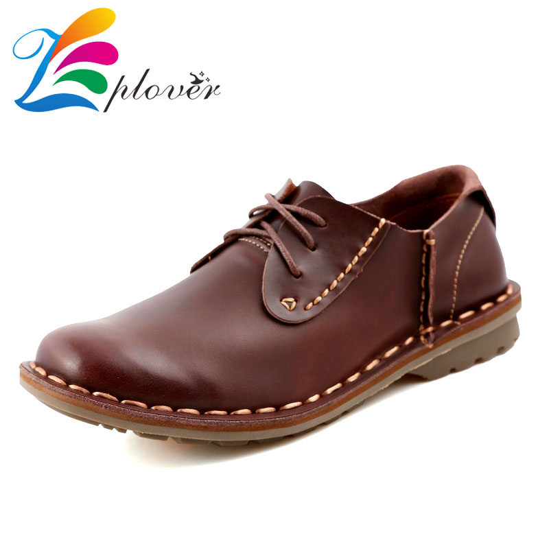 Zplover Brand Genuine leather Oxford Shoes For Men Flats New 2016 Fashion Men Shoes Casual Mocassin Chaussure Homme Dress Shoes