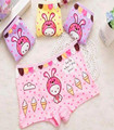 Милый кролик печати детское белье детская девушки боксеры underwears девушки 4 цвета мультфильм девушки Трусики 95% модальный 2-10лет
