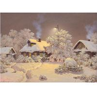 New Arrival 5D Square Diamond Painting Snow House Cross Stitch Kit DIY Set Embroidery Rhinestone Home