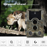 ZECRE HD 1080P 16MP Outdoor Infrared Hunting Camera Night Vision Trail Wildlife Cameras Photo Traps 47pcs IR LEDs Waterproof