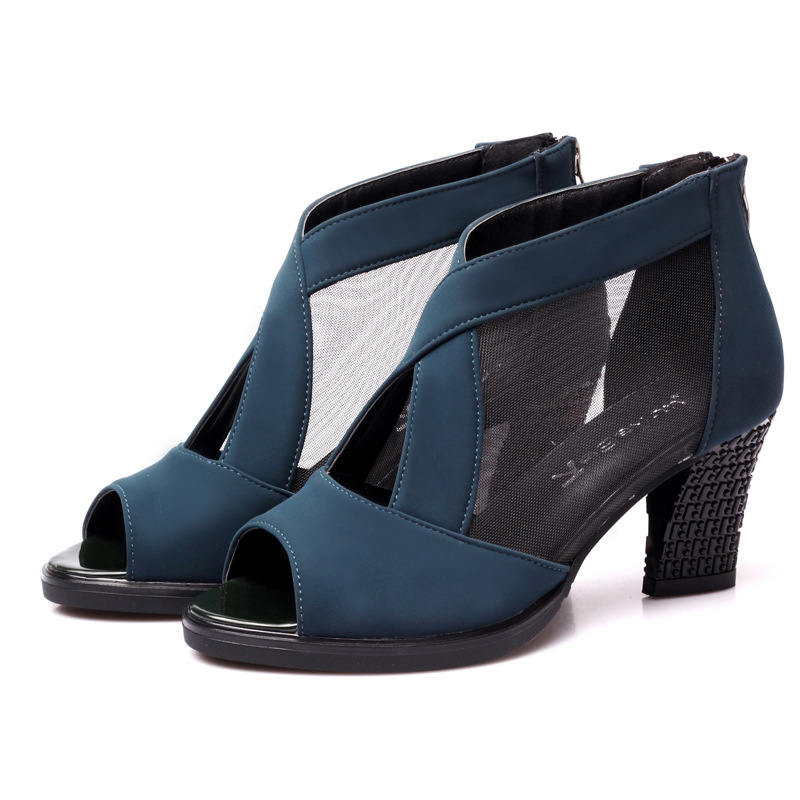 Alta De Mujer Zapatos Negras 2018 Calidad Para Tacón Sandalias Alto 0wPkX8On