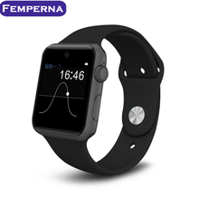Lf07 wearable dispositivos bluetooth smart watch hd soporte de pantalla tarjeta sim smartwatch para android ios pk iwo gt08 dz09 k88h