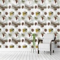 Custom 3d Wall Paper Pine Nuts Seamless Printing 3d Photos Minimalist Wall Paper For Kids Room