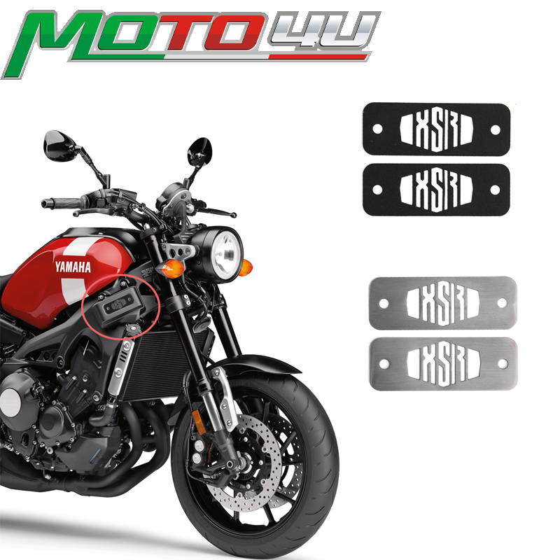MOTO4U 1 Pair For YAMAHA XSR 900 XSR900 Stainless Steel Fuse Box Top Plates Powder Coated Gloss In Black