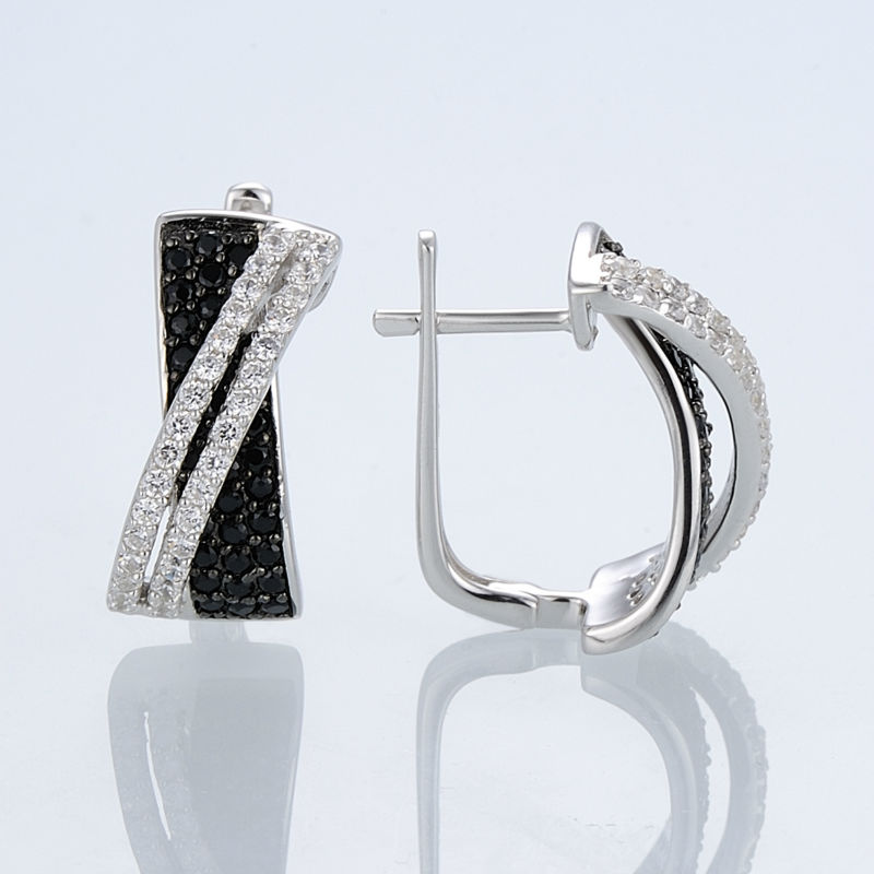 Silver Earrings E303189BSNZSL925-SV2-W