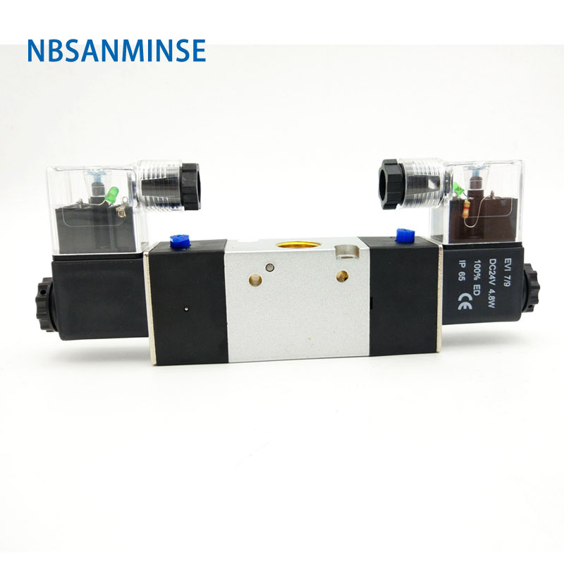 NBSANMINSE 3V220  G1/4 Solenoid Valve Two Way Three Position Pneumatic Single Double Coil AIRTAC Type