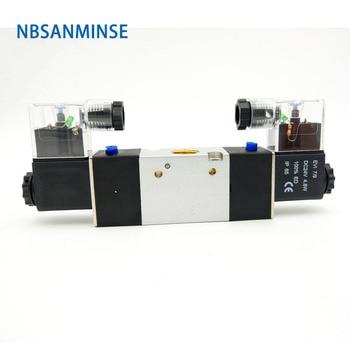 цена на NBSANMINSE 3V220  G1/4 Solenoid Valve Two Way Three Position Pneumatic Valve Single Double Coil Pneumatic Valve AIRTAC Type
