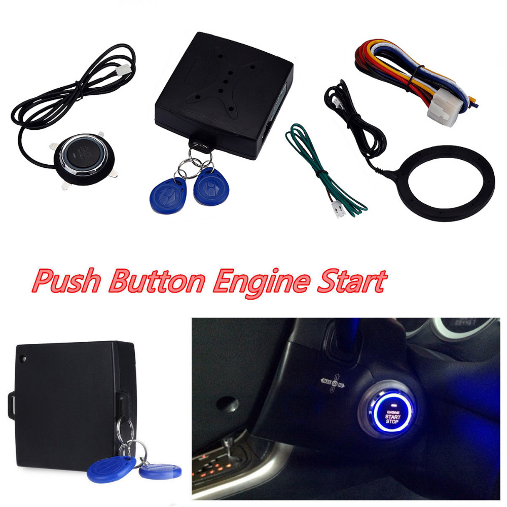 2018 hot sale Car Alarm Engine Push Start Button Lock Ignition Keyless Entry Immobilizer Systems b# dropship