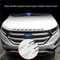 For Ford EDGE 2015 2018 SILVER Graphite Hood Letters Emblem Gloss Finish metal Emblem