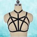 Gótico jaula bondage vestido de carnaval discoteca underwear bra cinturones correas de arnés bondage fetish lingerie garter cinturón o0220