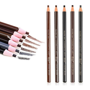 1PC Microblading Eyebrow Pen Waterproof Permanent Makeup Eye brow Pencil Positioning Lip Dark Brown Eyebrow cejas maquillaje