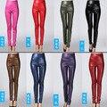 Imitation leather cloth plus size leggings women fitness high waist slim elastic pencil pants high stretched workout  leggins