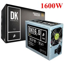PS-1600BTP Low Noise Mining PSU 1600W High Power Basic PC Mining Power Supply with 2pcs 8cm Cooling Fan & SGCC Case(China)
