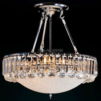 ZESOL luxury living room K9 crystal led chandelier modern bed room foyer lustre crystal hanging chandelier