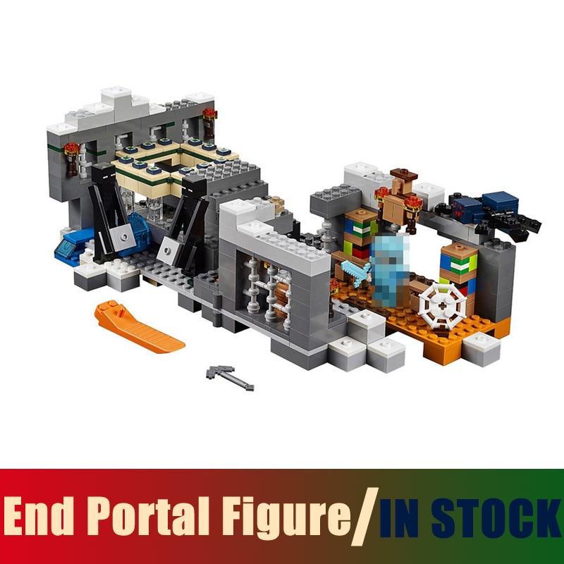 Compatible Lego worlds MineCraft 21124 Models Building Toy End Portal Figure 571pcs 10470 Building Blocks Toys & Hobbies задние ремни безопасности ваз 21124 где магнитогорск